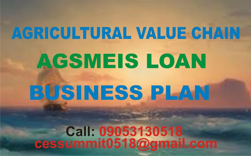 AGSMEIS LOAN FOR AGRICULTURAL VALUE CHAIN BUSINESSES