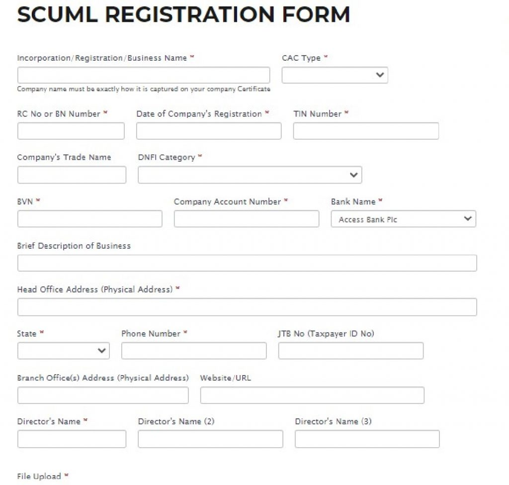 SCUML Certificate Registration: This is how to get registered